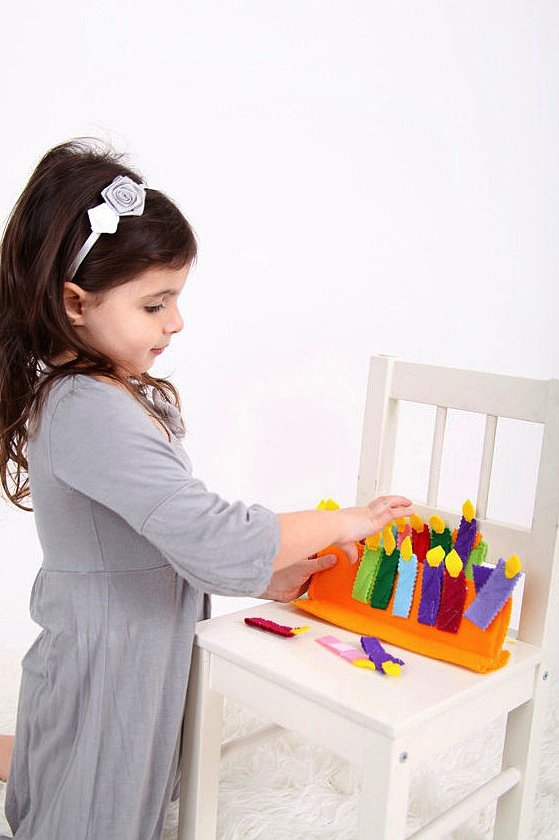 Gifts For Kids Felt Menorah