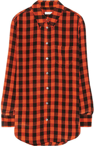 Equipment Reese plaid washed-silk shirt