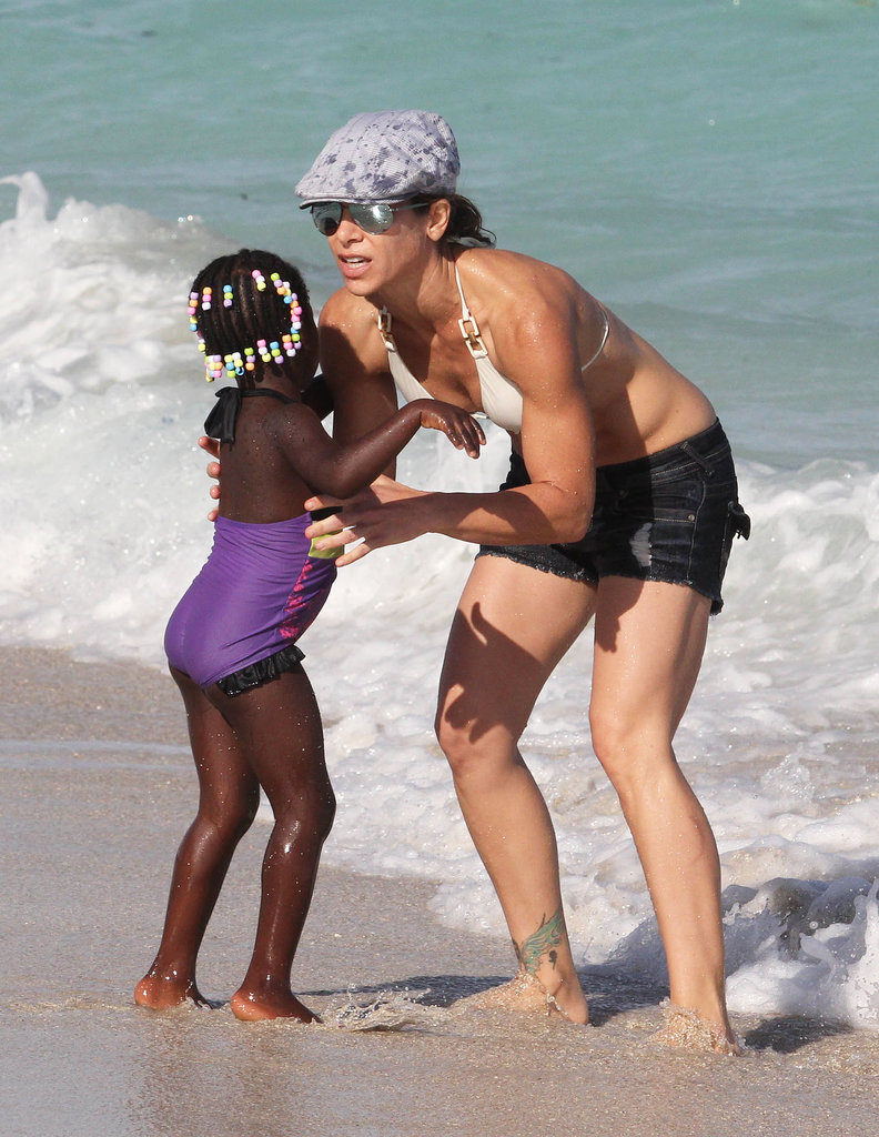 Jillian Michaels Brings Her Bikinis and Babies to the Beach