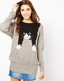 Blue Vanilla Jumper With Draped Cat ($51, originally $73)