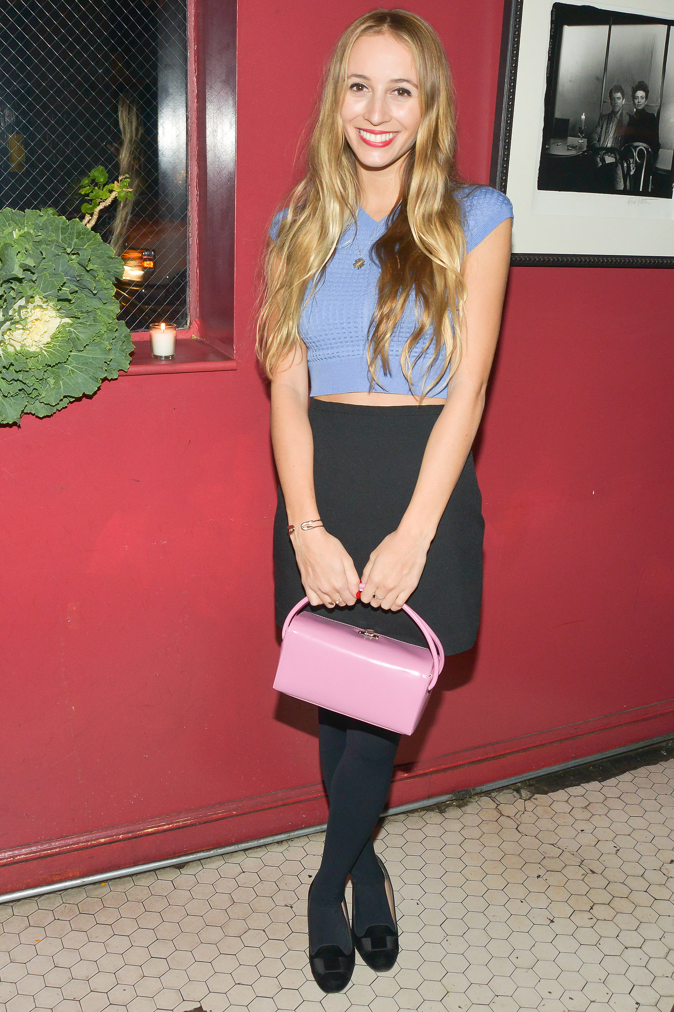 Harley Viera-Newton at Carven's New York store opening.