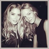 Doutzen Kroes and Erin Heatherton struck a pose before the big night. Source: Instagram user jeromeduran
