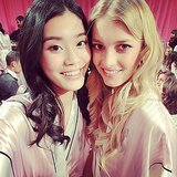 Model Ming Xi shared this snap of her with fellow runway Angel Sigrid Agren. Source: Instagram user mingxi11