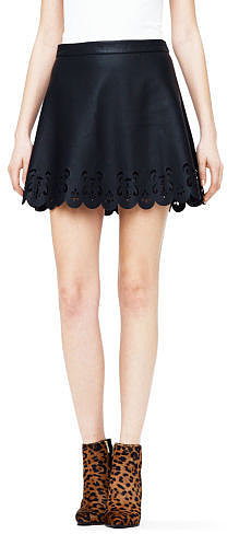 Colleen Faux Leather Skirt