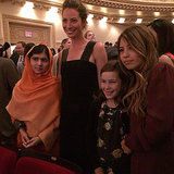Christy Turlington posed with her daughter, niece, and honoree Malala Yousafzai at Glamour's Women of the Year Awards.  Source: Instagram user cturlington