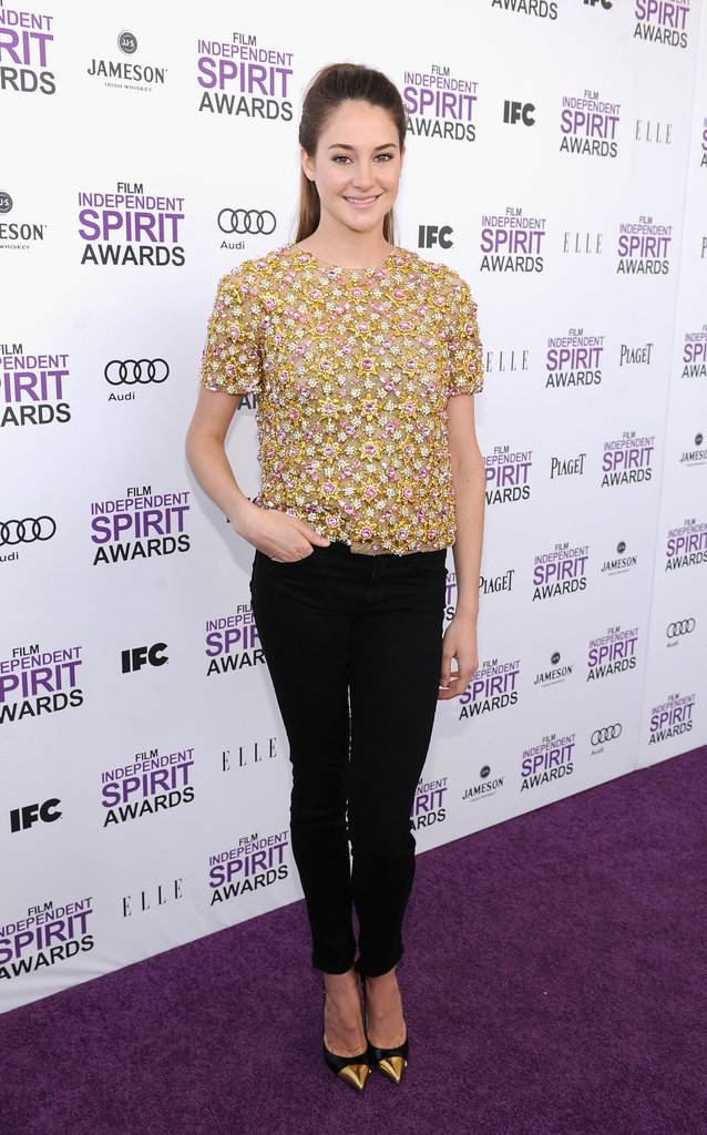 Shailene Woodley in Christopher Kane Top at the 2012 Independent Spirit Awards