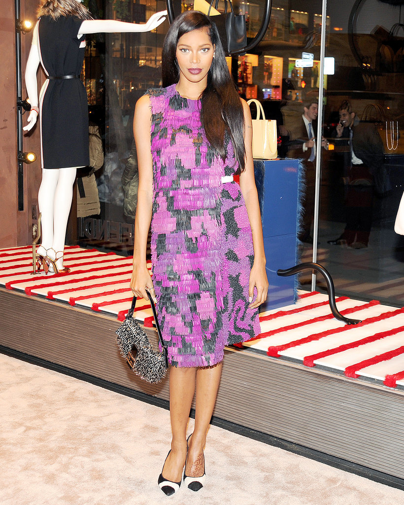 Jessica White in Fendi at Vogue's Fendi Buggies launch.