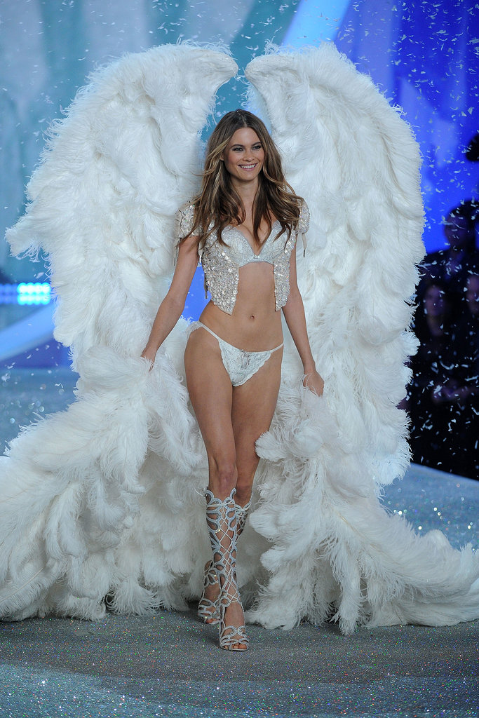 15. Behati Prinsloo hit the runway wearing giant feather wings.
