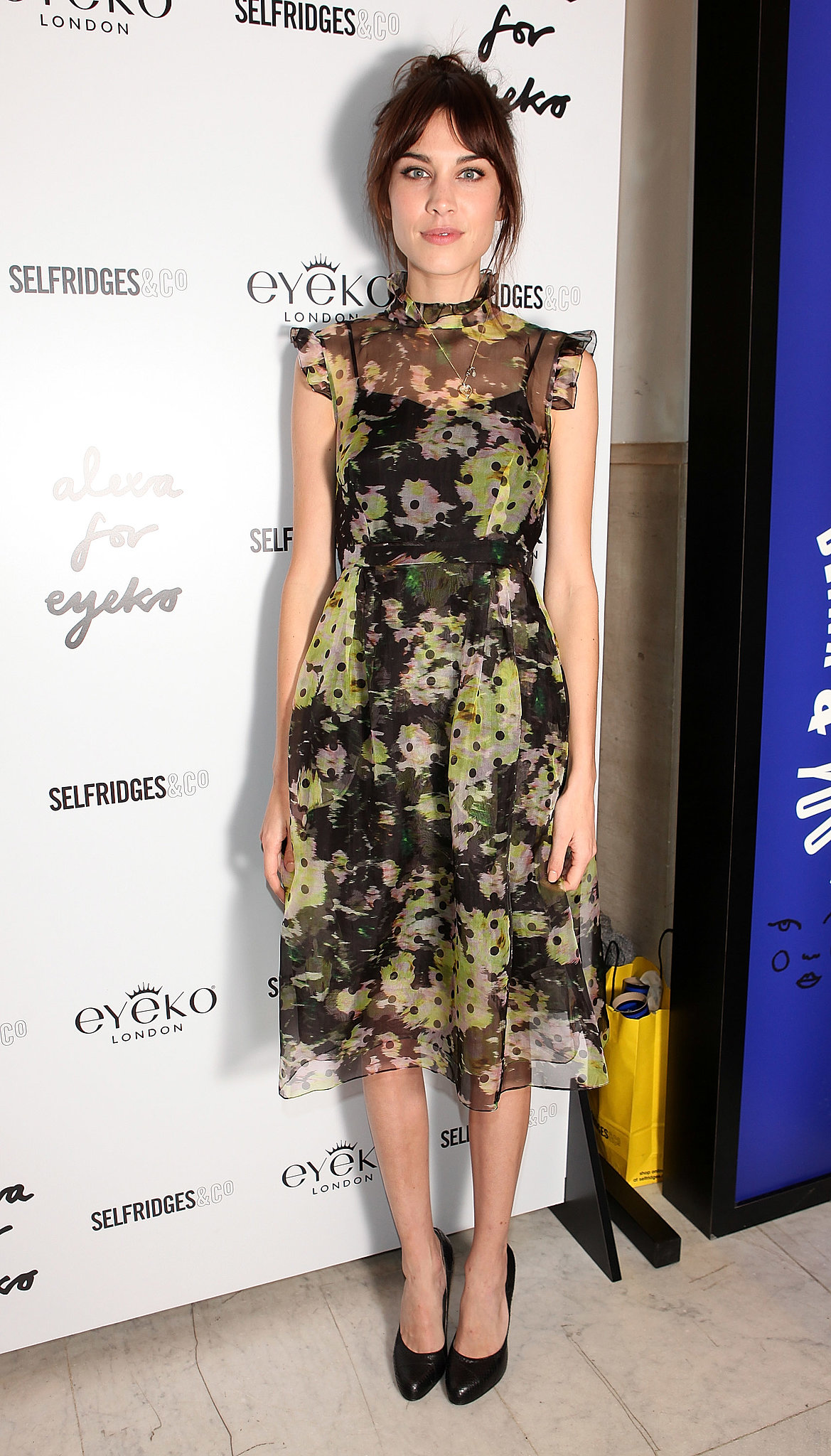 Alexa Chung at the Alexa Chung for Eyeko launch.