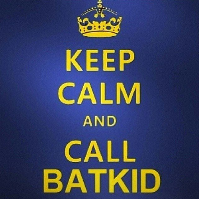 Keep calm and call Batkid! Source: Instagram user angelavogt