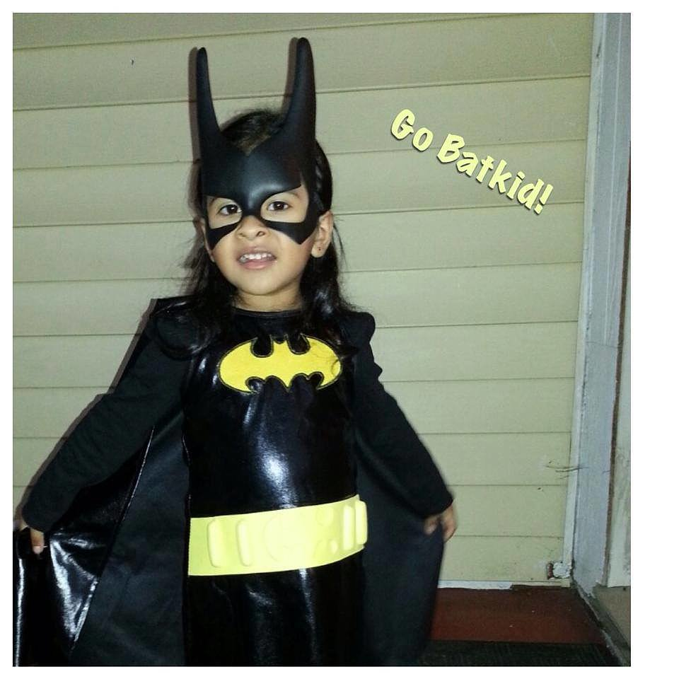 Cheering on Batkid from afar . . .  Source: Facebook user Batkid Photo Project