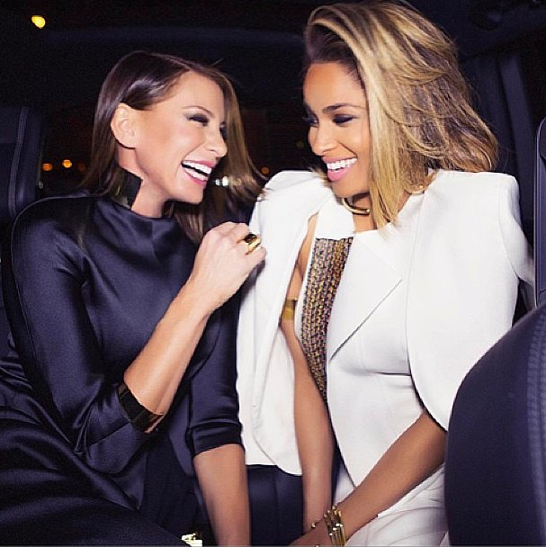 Ciara found a chic and sparkly friend in Jennifer Fisher. Source: Instagram user Ciara