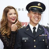 Ashley Benson gave a solider a smooch! Source: Instagram user maybelline