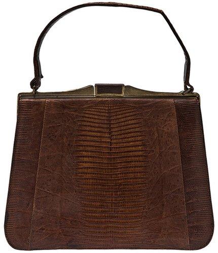 Tootsies Vintage Bellstone lizard handbag