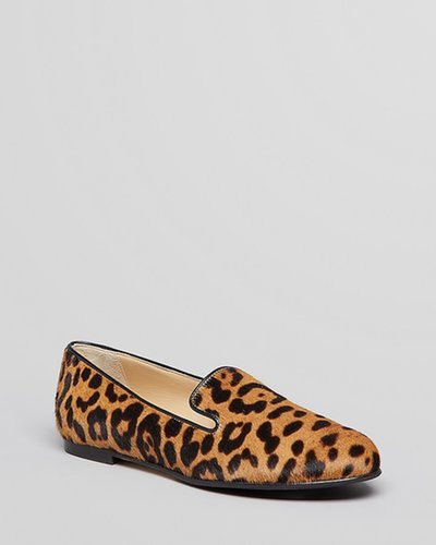 L.K.Bennett Smoking Flats - Lisa Leopard Print