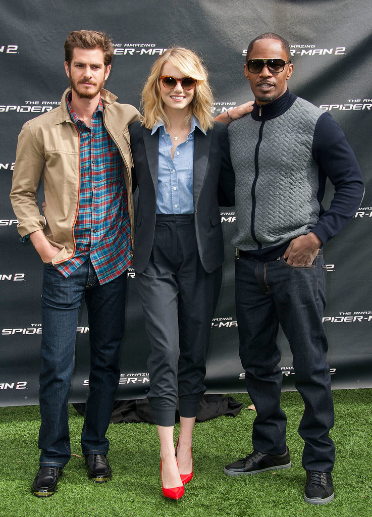 Emma Stone and Andrew Garfield Goof Around With Fans