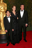 Angelina Jolie walked the red carpet with Brad Pitt and their son Maddox.