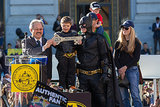Batkid was all smiles when he got a key to the city.