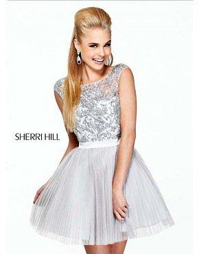 Sherri Hill 21167 Homecoming Dresses Gray