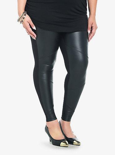 Torrid Faux Leather Panel Leggings