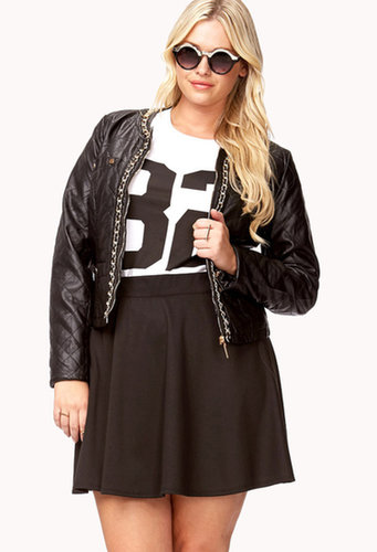 FOREVER 21+ Chain Trim Faux Leather Jacket