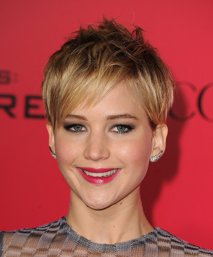 Jennifer Lawrence glowed at the Catching Fire premiere in LA.