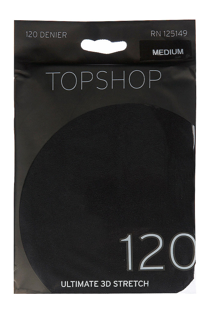 Have a great pair of tights, like these Topshop opaque tights ($12) in your bag for warming up your dresses.