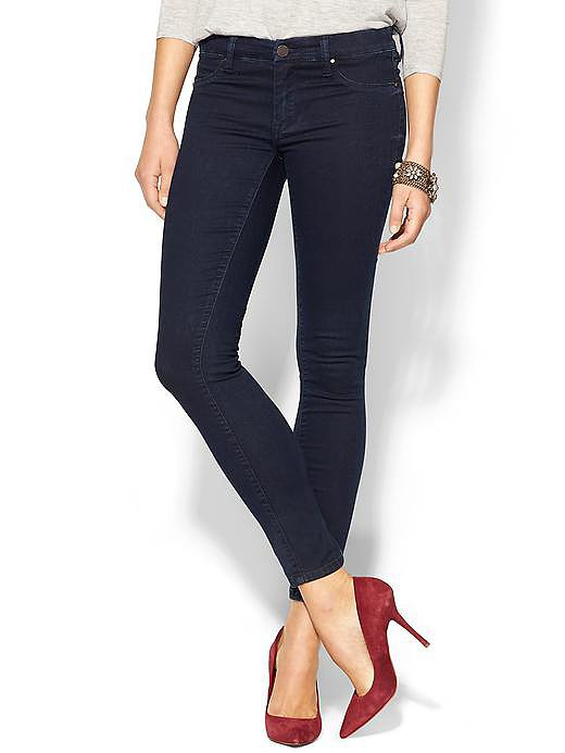 Opt for a pair of classic jeans — no bells, whistles, or distressing — so they'll be versatile enough to take you from lounging around the house to heading out on the town. We love these Blank skinny jeans ($88).