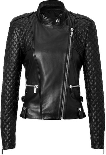 Barbara Bui Quilted Leather Jacket in Black