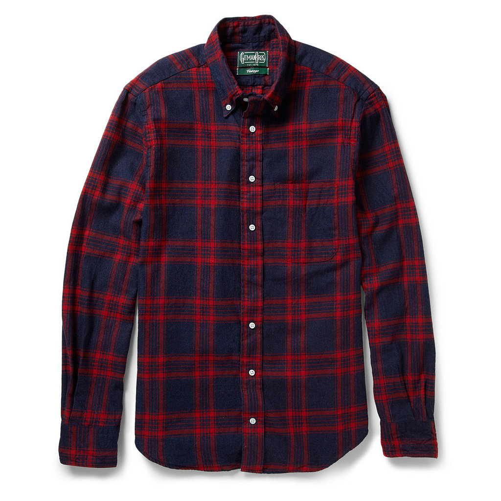 The holidays are the best excuse to break out the plaid. Help your guy channel his inner woodsman with this blue and red Gitman Vintage shirt ($200).