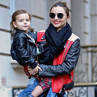 Miranda Kerr's Colorblock Acne Leather Jacket