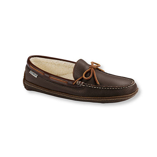Fleece-lined slippers ($40) cleverly disguised as driving moccasins? Well played, L.L. Bean.