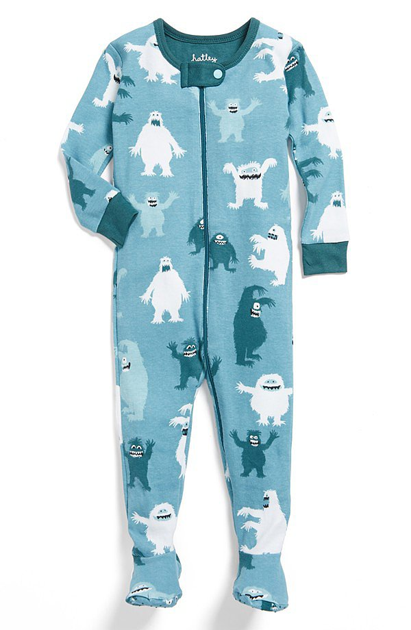 Hatley Ice Monster Footie Pajamas