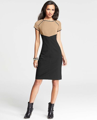 Tipped Colorblocked Sheath Dress