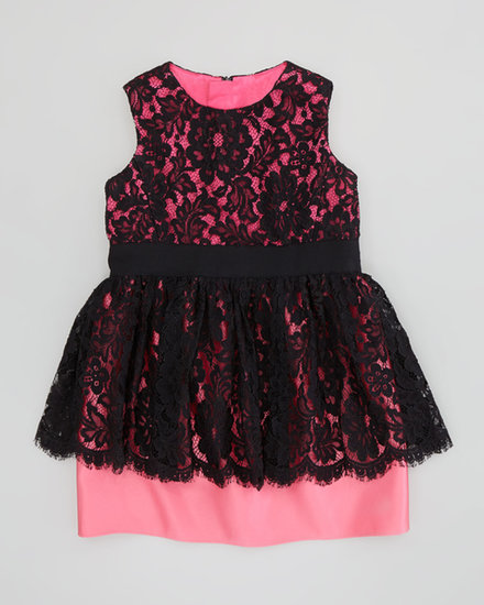 Milly Minis Lace Peplum Dress
