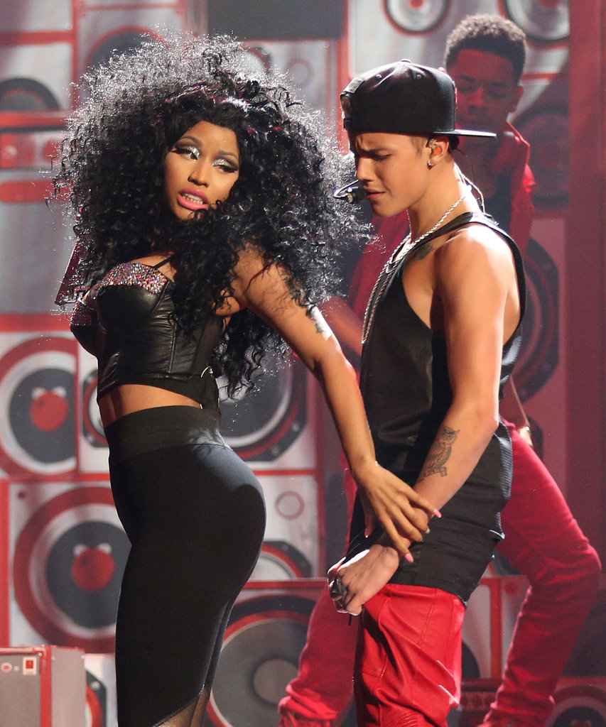 Nicki Minaj and Justin Bieber didn't hold back on flirtatious dance moves during their performance of Beauty and a Beat in 2012.