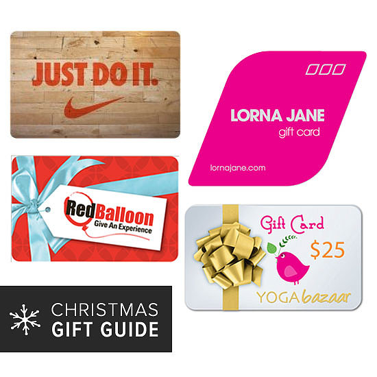 2013 Christmas Gift Guides: Buy Your Fit Friend a Gift Card