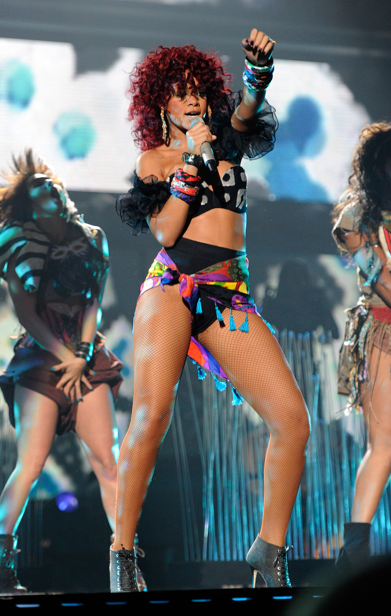 Rihanna was sexy on stage in 2010.