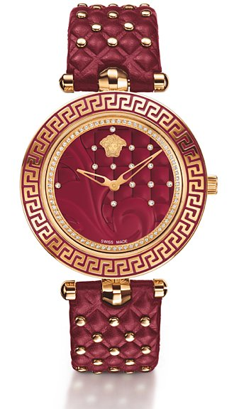 Wear Versace every day with the house's crimson timepiece ($3,695). Accented with diamonds and the requisite Medusa head, it's practical glam.