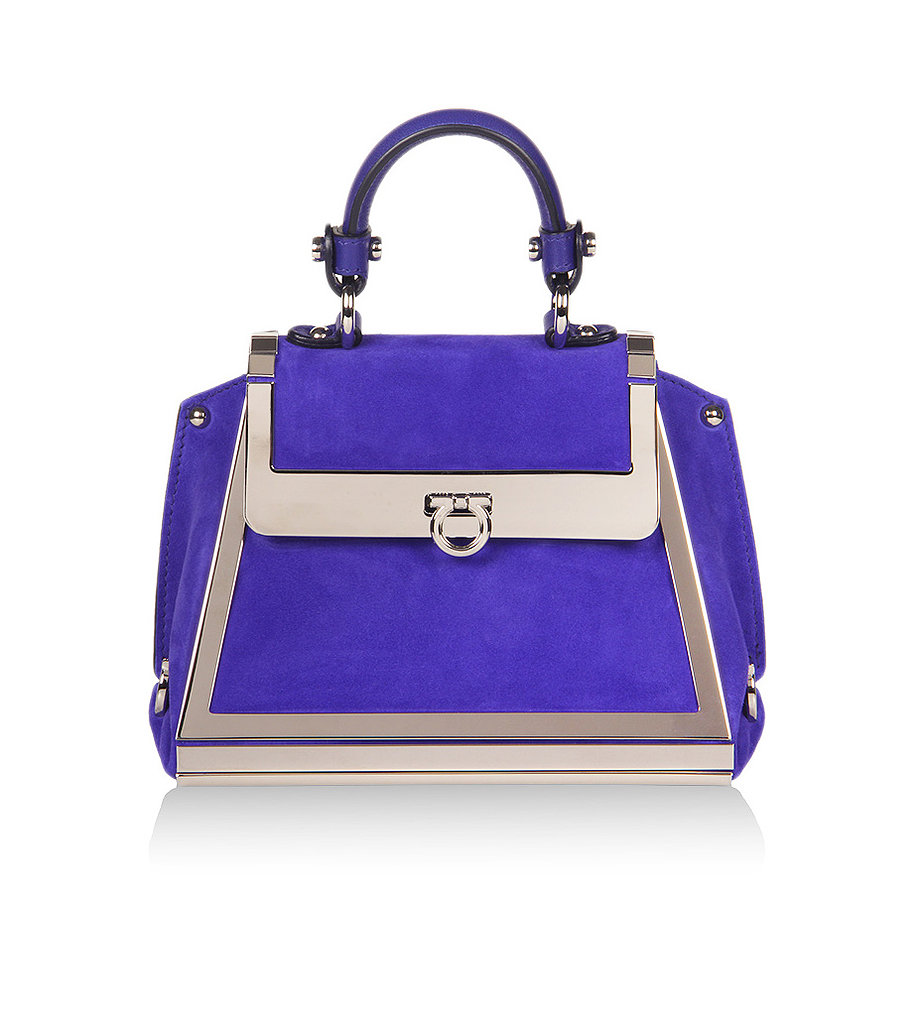 Salvatore Ferragamo's involvement with the Wallis Annenberg Center for the Performing Arts in Beverly Hills spawned a collection of extraspecial accessories, including this bold blue Sofia bag ($2,650).