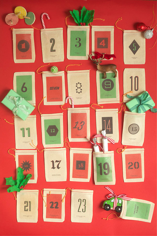 DIY: Oh Happy Day's Iron-On Advent Calendar