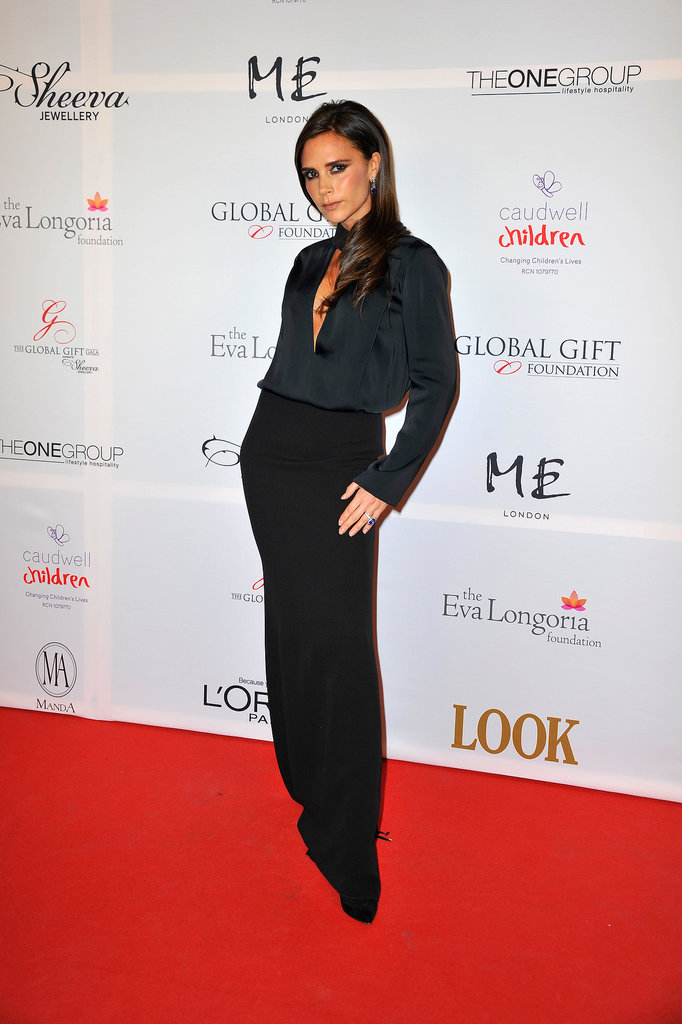 Victoria Beckham at the London Global Gift Gala.
