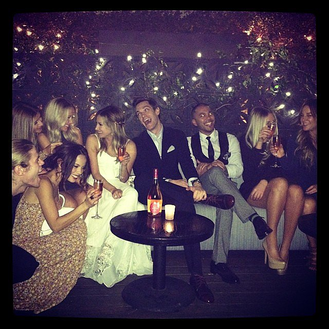 Ashley Tisdale shared a snap from her engagement party with fiancé, Christopher French. Source: Instagram user ashleytisdale