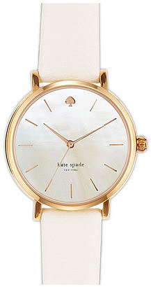 It's time we bring back wristwatches, and the Kate Spade leather strap watch ($195) is a simply elegant way to do so. It also matches that other thing I use to tell time: my white and gold iPhone 5S.  — Annie Gabillet, news editor