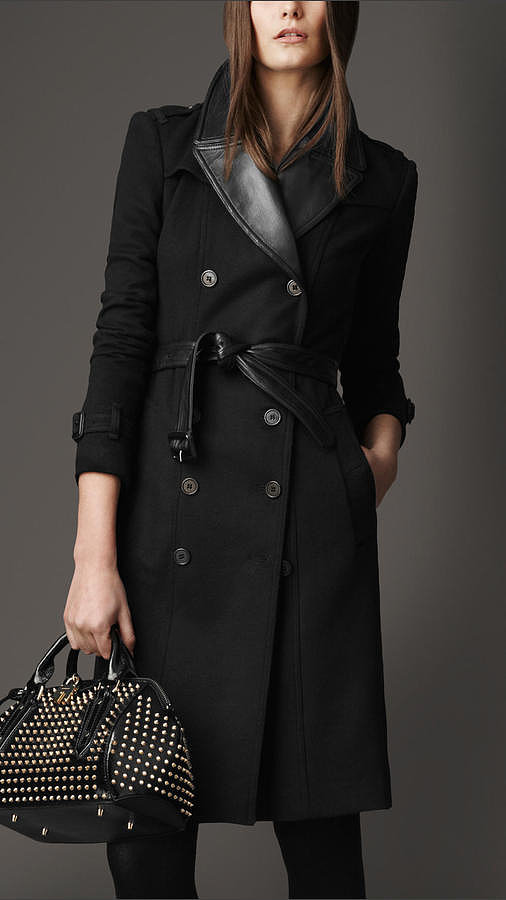 Burberry is a favorite of famous Brit It girls like Sienna Miller and Emma Watson. This Burberry Long Leather Detail Wool Cashmere Trench Coat ($2,295) is a lux twist on the fashion house's classic trench.  — Annie Gabillet, news editor