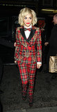 Rita Ora picked plaid to add a quirky twist to the tux.
