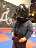 Selma Blair's little boy, Arthur, was transformed into Darth Vader.  Source: Twitter user SelmaBlair