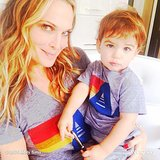 Molly Sims and Brooks Stuber were matchy-matchy thanks to a gift from her hairdresser. Source: Instagram user mollybsims