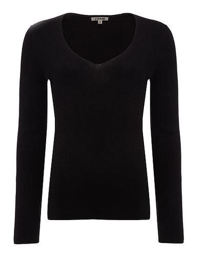 Silk Blend V-Neck Jumper