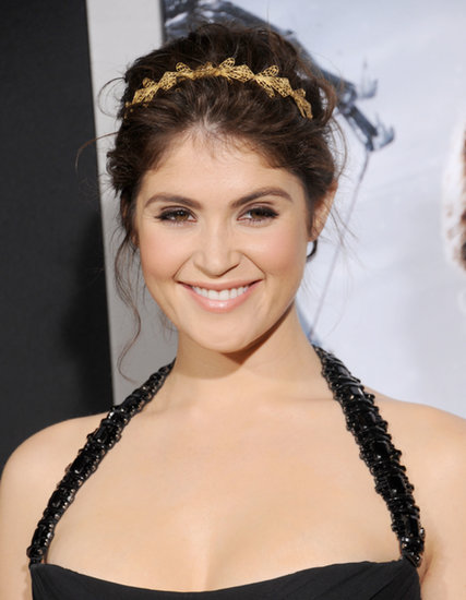 Filigree bee-like shapes made up Gemma Arterton's intricate gold headband for the Hansel & Gretel: Witch Hunters premiere.
